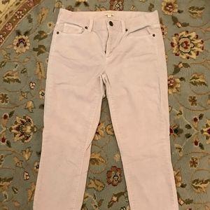 Jcrew size 27 violet corduroy pants, skinny leg